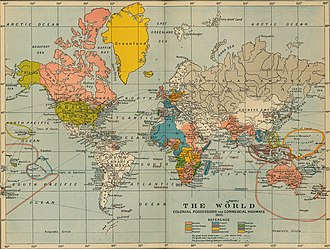 Western world - Western empires as they were in 1910.