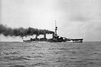 Fusō-class battleship - Image: Yamashiro initial trial
