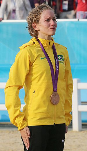 Yane Marques - Marques with her bronze medal, at the 2012 Summer Olympics
