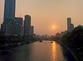 Yarra River and Southbank Bridge at sunset Melbourne Australia.jpg