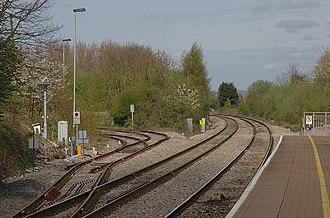 Thornbury branch line - Image: Yate railway station MMB 10