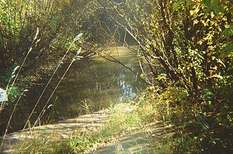 Yegoshikha River - Yegoshikha River near the North Dam