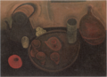 YorozuTetsugorō-1918-Still Life with a Kettle and Tea-Things.png