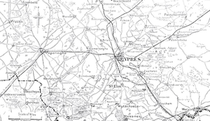 Actions of the Bluff, 1916 - Image: Ypres region 1915