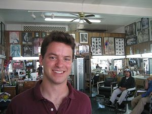 Zachary Pincus-Roth - Zachary Pincus-Roth in a barbershop in Ensenada, Mexico