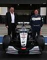 Zak Brown and Eric Boullier 2015 McLaren MP4-16A shakedown (20784374244).jpg