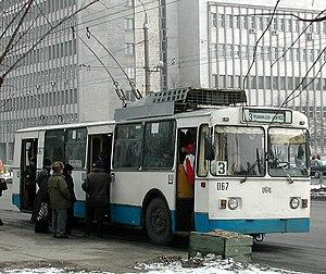 Transport in Belarus - A Trolleybus in Brest