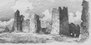 Žrnov - A drawing of Žrnov by Felix Philipp Kanitz, second half of the 19th century
