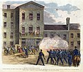 """""""Collision Between the Federal Troops Under Colonel McNeil and the Citizens of St. Louis, MO. - The Fire on the Troops Taking Effect Upon the Recorder's Court, Which was then in Session."""".jpg"""
