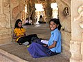 """Girls on a field trip in Hampi"".jpg"