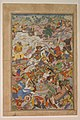 """Krishna and Balarma Fighting the Enemy"", Folio from a Harivamsa (The Legend of Hari (Krishna)) MET sf28-63-3a.jpg"
