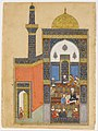 """Laila and Majnun at School"", Folio from a Khamsa (Quintet) of Nizami MET DP159399.jpg"