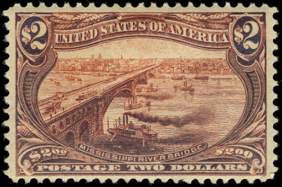 File:$2 Mississippi River bridge 1898 U.S. stamp.tiff