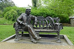 'A Conversation With Spike' by John Somerville, Stephens House and Gardens, Finchley (cropped).jpg