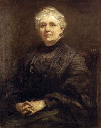 Frederic Yates - 'Portrait of Anna Rice Cooke', oil on canvas painting by Frederic Yates, 1910, Honolulu Museum of Art