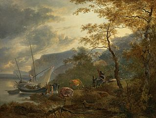 Southern Hilly Coast with a Sailing Vessel
