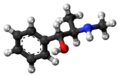 (1R,2R)-Pseudoephedrine molecule ball.png