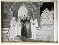 (Portrait of wedding party emerging from church) (AM 79065-2).jpg