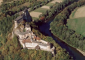 Outer bailey - Orava Castle  (Slovakia ) with a large outer bailey.