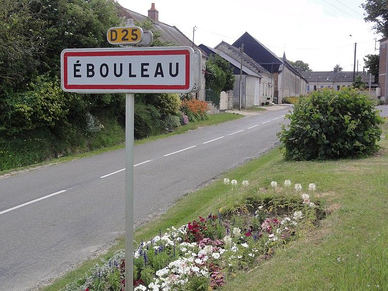 Ébouleau (Aisne) city limit sign