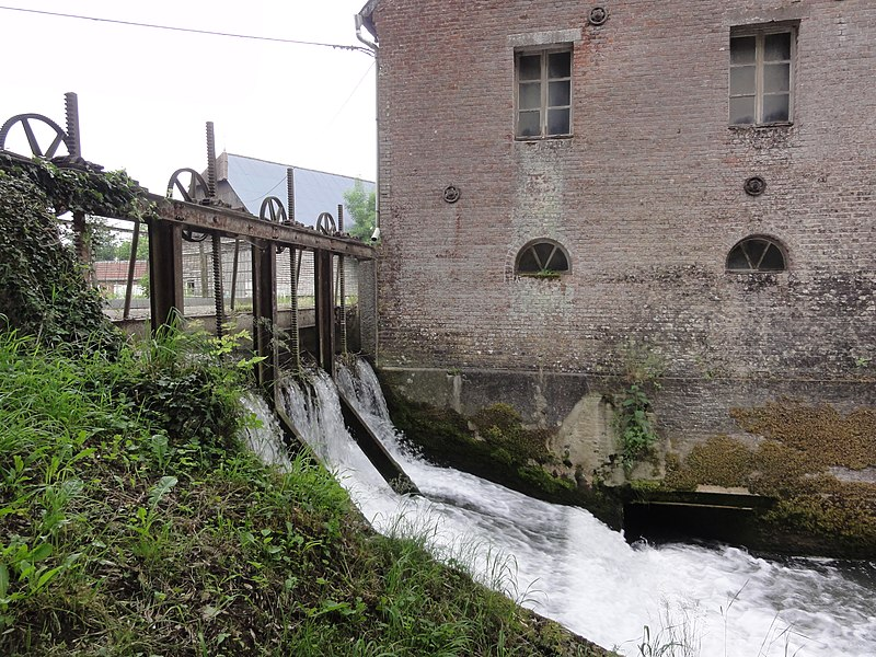 Éparcy (Aisne) moulin sur le Thon