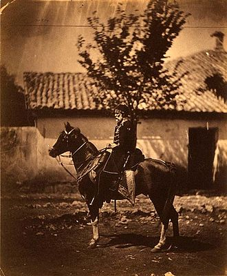 Omar Pasha - Omar Pasha on a horse, unknown date.