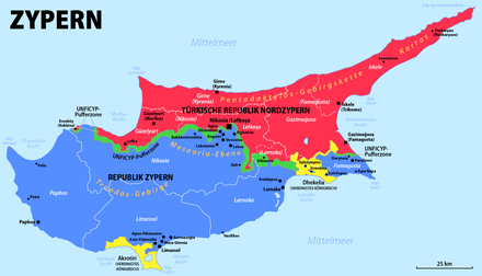 karte zypern griechenland Zypernkonflikt – Wikipedia