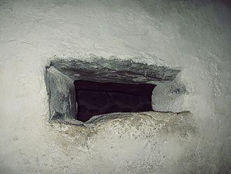 Hagioscope - Hagioscope in Olavinlinna castle in Eastern Finland