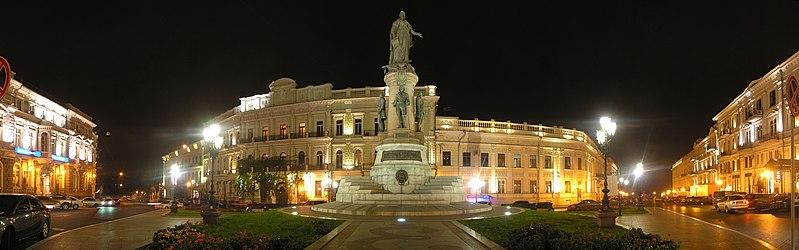 """File:Панорама с видом на памятник """"Основателям Одессы"""".jpg"""