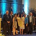 צילה שניידר בקבלת פרס ירושלים לאחדות.jpg