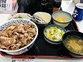 牛ねぎ玉丼特盛お新香セット (13219991335).jpg