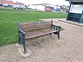 -2019-01-05 Longshot of Lamb dedicated bench, Beach Road, Mundesley.JPG