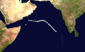 1960 North Indian Ocean cyclone season - Image: 02 A 1960 track