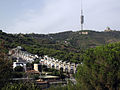 060 Torrent de Can Caralleu, torre de Collserola i el Tibidabo, des del parc de l'Oreneta.jpg