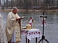 1.2 Sanok, Blessing of the holy water at San River.JPG