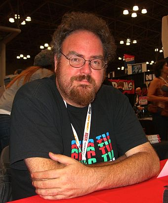 Heroes host Jon Schnepp at the 2012 New York Comic-Con 10.12.12JonSchneppByLuigiNovi1.jpg