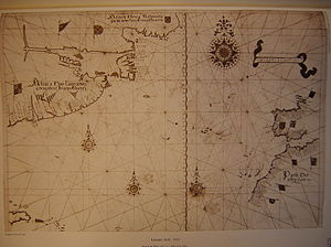 Captain-major - The Lazaro Luís map of the Atlantic (1563) showing the Azores and Madeira