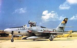 Republic F-84F Thunderstreak - RF-84F Thunderflash, the reconnaissance version of the F-84F.