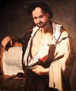 Luca Giordano - Demokrit, 1690, Hamburger Kunsthalle