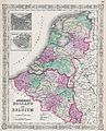 1866 Johnson Map of Holland and Belgium - Geographicus - HollandBelgium-johnson-1865.jpg