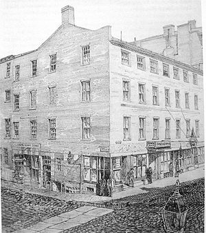 Concert Hall (Boston, Massachusetts) - Artist's rendering of the Concert Hall as it appeared in the mid-19th century
