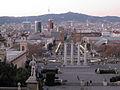 188 Les Quatre Columnes des del mirador del Palau Nacional.jpg