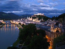 1913 - Salzburg - View from Mönchsberg