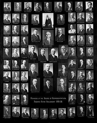 25th New Zealand Parliament - Members of the 25th New Zealand Parliament, the Sergeant-at-arms and the Clerk of the House.