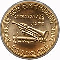 1982 Louis Armstrong One-Ounce Gold Medal (rev).jpg