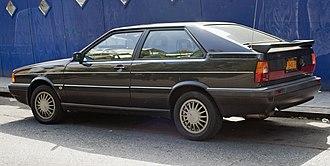 Audi Coupé (B2) - Rear view of US market Coupé GT (1986)