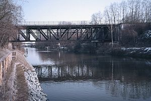 Anhalt Suburban Line - Single-track bridge over the Teltow Canal, 1987