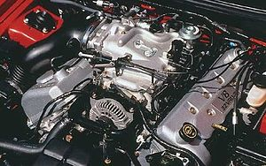 Ford Modular engine - A 1999 Ford Mustang SVT Cobra engine.