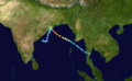 1999 Indian cyclone 05B track.png
