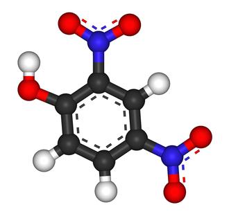 2,4-Dinitrophenol - Image: 2,4 Dinitrophenol 3D